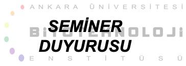 SEMİNER DUYURUSU